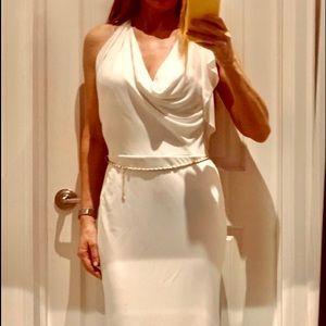 SALE! New-BCBG WHITE/cream floor length dress